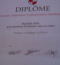 Maison Lefebvre - Médailles